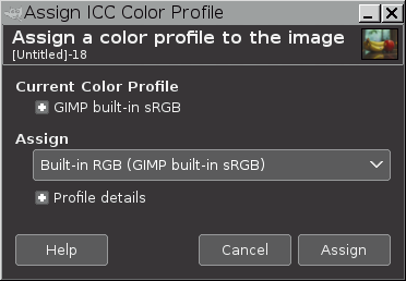 6 10  Assign Color Profile