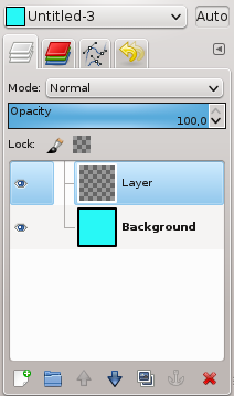 gimp add image to existing layer