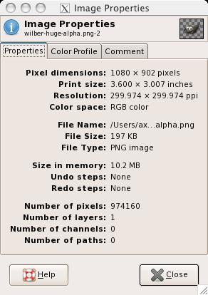 6 34  Image Properties