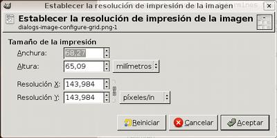 621 Tamaño De La Impresión