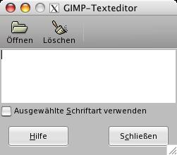 gimp schriftarten