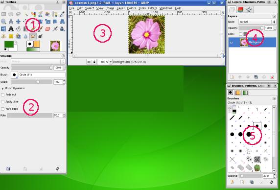 2 main windows rh docs gimp org GIMP Screenshots GIMP Box