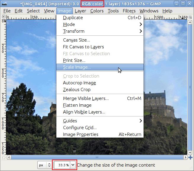4.2. Cambiar el tamaño de una imagen para la pantalla