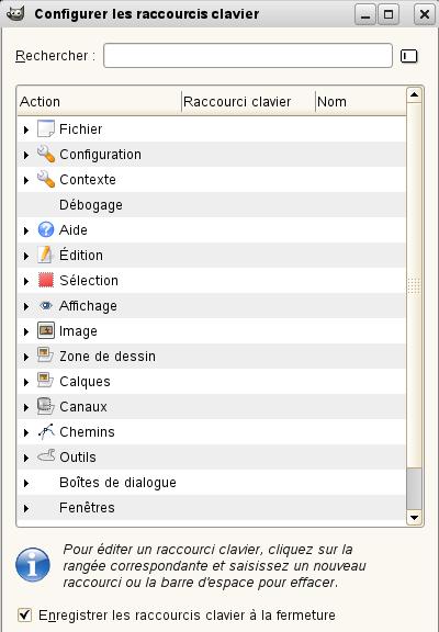 5 cr ation de raccourcis clavier vers les fonctions du menu for Raccourci pour fermer une fenetre
