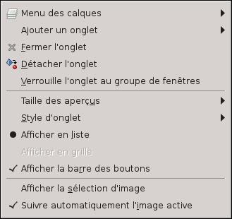 2 3 dialogues fen tres et onglets for Afficher fenetre calque gimp