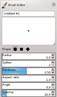 The Brushes Editor dialog