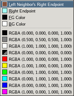 The Load Color From submenu