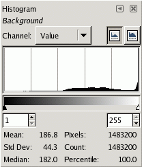 The Histogram dialog