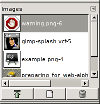 The Images dialog