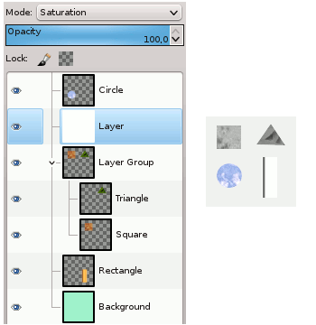 Layer Mode in or out Layer Group