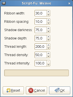 Weave filter options