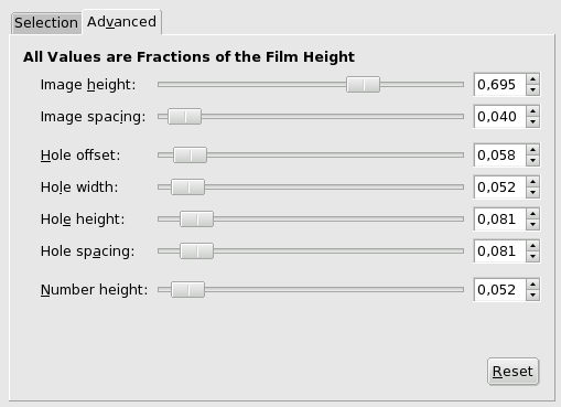Film filter options (Advanced)