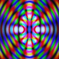 Two examples of diffraction patterns.