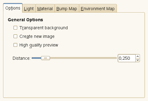 Lighting filter options (General Options)