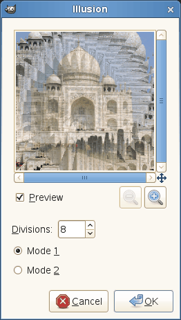 Illusion filter options