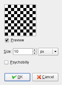 Checkerboard filter options