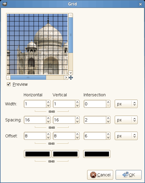 Grid filter options
