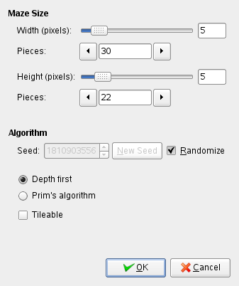 Maze filter options