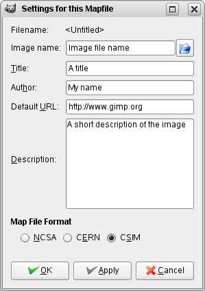 Editing the imagemap data