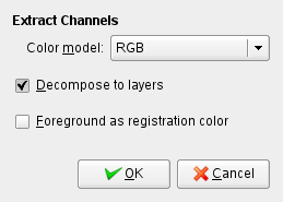 Decompose command options