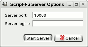 The Script-Fu Server Options