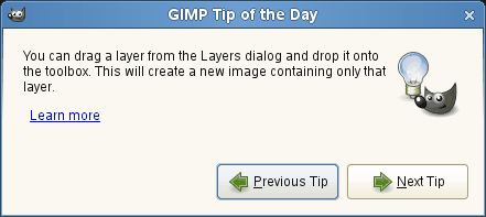 Tip of the DayDialog window