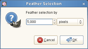 The Feather Selection dialog