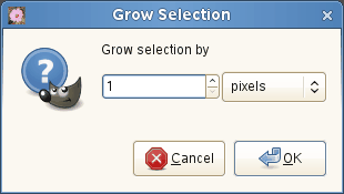 The Grow Selection dialog window