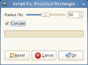 The Rounded Rectangle dialog