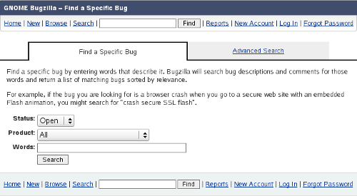 Bugzilla: Find a Specific Bug