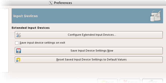 Input devices preferences