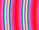 Illustration of the effects of the three gradient-repeat options, for the Abstract 2 gradient.