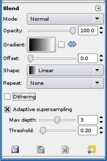 Blend tool options
