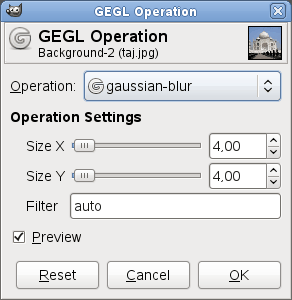 Operation Settings example