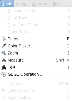 Other Tools in the Tools Menu