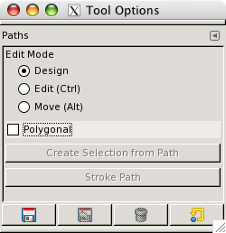Path tool options