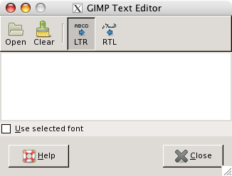 The Text Editor options