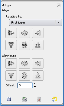 Tool Options for the Align tool