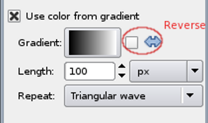 Gradient options for painting tools.