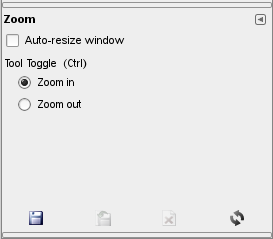 Zoom tool options