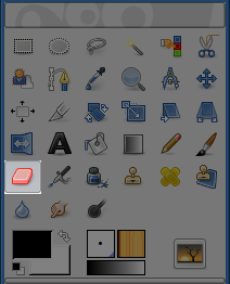 Eraser tool icon in the Toolbox