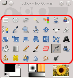 The Tool Icons in the Toolbox