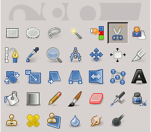 Intelligent Scissors tool icon in the Toolbox