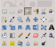 Magic Wand tool icon in the Toolbox