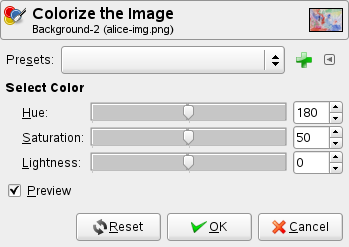 Colorize options
