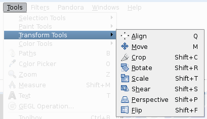 An overview of the transform tools