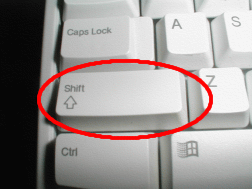 Introducing the Shift-key