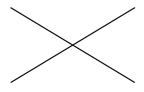 Example of straight drawn lines