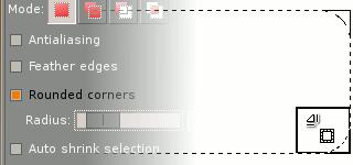 Herramientas de selección en el GIMP 2.4