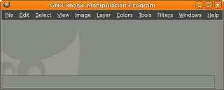 New Look of the image window in GIMP 2.6